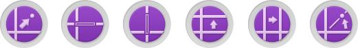 정렬 도구 : XY 좌표 원점 이동 정렬, X축 정렬, Y축 정렬, X축 평행이동 정렬, Y축 평행이동 정렬, 회전 정렬