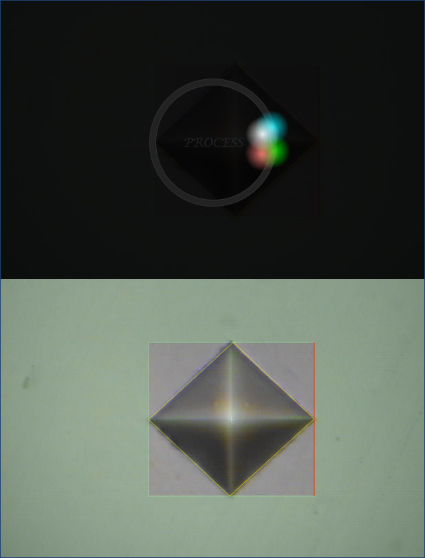 실시간 압흔 영상의 형상을 원-클릭으로 자동 감지하여 쉽고 빠르게 경도를 측정 할 수 있습니다